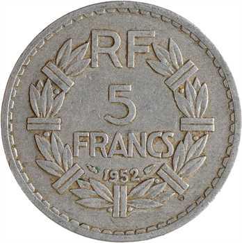 IVe République, 5 francs Lavrillier aluminium, 1952 Paris