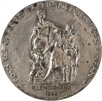 État français, récompense de l'Éducation Nationale, par Corbin, 1944 Paris