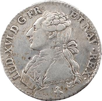 Louis XVI, cinquième d'écu aux branches d'olivier, 1782, 1er semestre, Paris