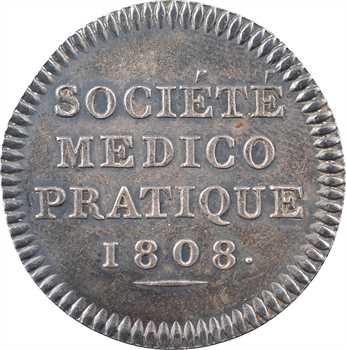 Premier Empire, Société médico-pratique, en argent, 1808 Paris