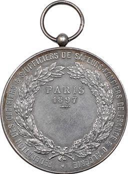Algérie/France, Fédération des Sapeurs-pompiers, par Roty, 1897 Paris