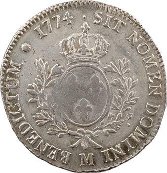 Louis XV, écu à la vieille tête, 1774 Toulouse