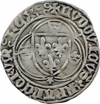 Louis XI, blanc à la couronne, 1re émission, Dijon
