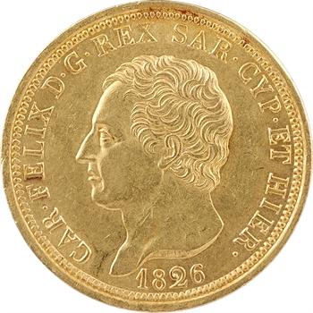 Italie, Savoie-Sardaigne, Charles-Félix, 80 lire, 1826 Turin