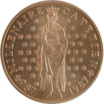 Ve République, essai de 10 francs Millénaire Capétien, 1987 Pessac