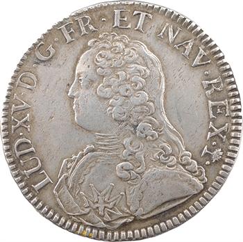 Louis XV, écu aux rameaux d'olivier, 1739 Troyes