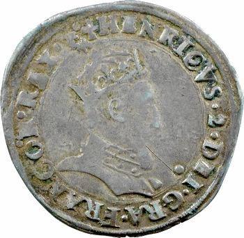 Henri II, demi-teston à la tête couronnée, 1552 Lyon