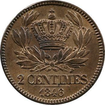 Louis-Philippe Ier, essai de 2 centimes, 1846