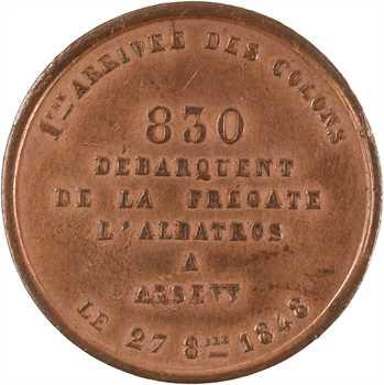 Algérie, débarquement des colons à Arzew, 1848 Paris