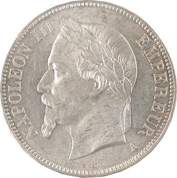 Second Empire, 5 francs tête laurée, 1867 Paris