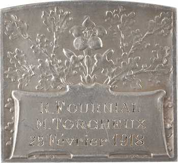 Vernier (S.-É.) : Hyménée, plaquette de mariage, 1918 Paris