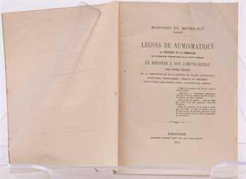 Lecoq-Kerneven (J.M.R.), Leçons de numismatique, Rennes 1870