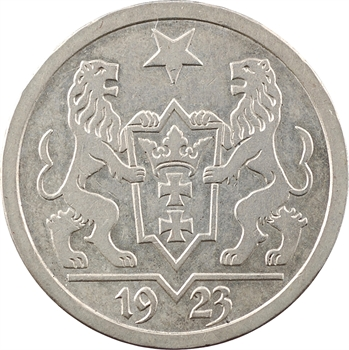 Allemagne, Dantzig (ville libre de), 2 florins (gulden), 1923 Berlin