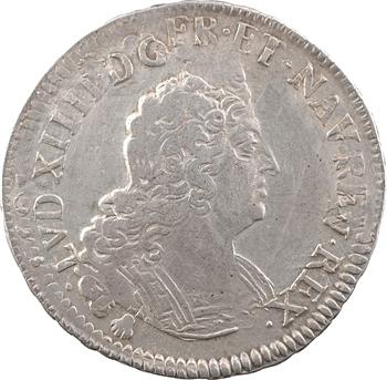 Louis XIV, demi-écu aux insignes, 1701 Troyes