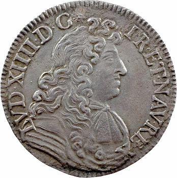 Louis XIV, demi-écu à la cravate, 2e émission, 1682 Rennes