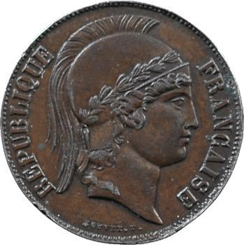 IIe République, essai de 20 francs par Bouvet, 1848 Paris