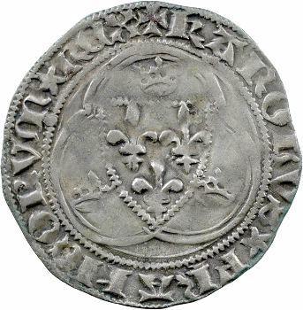 Charles VII, blanc à la couronne, 4e émission, Tournai
