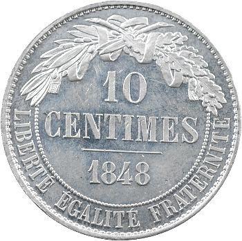 IIe République, essai de 10 centimes par Dantzell, 1848 Paris