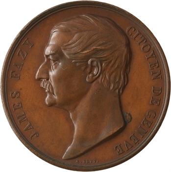 Suisse, James Fazy citoyen de Genève, par Bovy, 1855