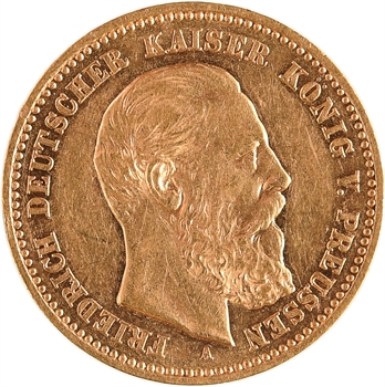 Allemagne, Prusse (royaume de), Frédéric III, 10 mark, 1888 Berlin