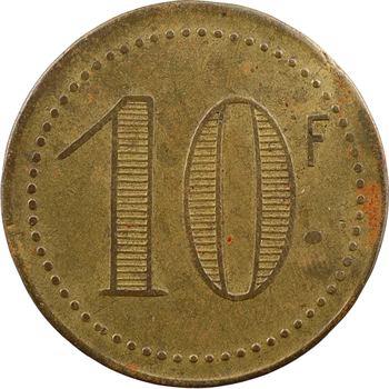 Tunisie, Tunis, jeton de maison close, Le Chabanais, 10 francs, s.d