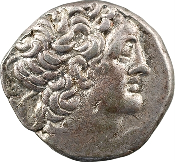 Égypte, Ptolémée XII, tétradrachme, Alexandrie, RY 15 (67-66 av. J.-C)