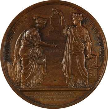 Louis XVIII, hommage à Nicolas François Bellart, par Barre, 1829 Paris