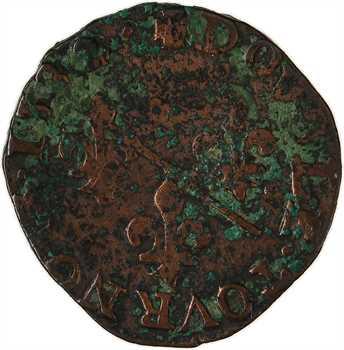 Dombes (principauté de), Louis II, double tournois 2e type, 1582 Trévoux