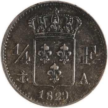 Charles X, 1/4 de franc, 1829 Paris