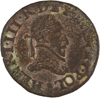 Henri III, double tournois, s.d. (1578-1580) Troyes