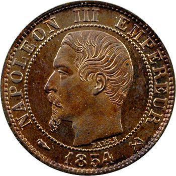 Second Empire, cinq centimes tête nue, 1854 Rouen