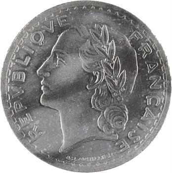 IVe République, 5 francs Lavrillier, 1947 Beaumont le Roger, variété frappe médaille