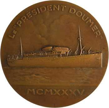 Compagnie des Messageries Maritimes, le paquebot Président Doumer (Extrême-Orient), par Maillard, 1935