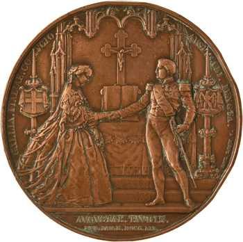Second Empire, mariage du Prince Napoléon et de Clotilde de Savoie, 1859 Paris