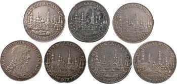 Lorraine, Nancy (ville de), Chambre de la ville, lot de 7 exemplaires, 1643-1702 Paris
