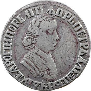 Russie, Pierre Ier, poltina (demi-rouble), s.d.