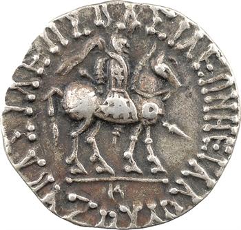Royaume Indo-Scythe, Azès Ier, tétradrachme (Zeus), c.57-35 av. J.-C. Hazara