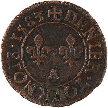 Henri III, denier tournois, 1583 Paris