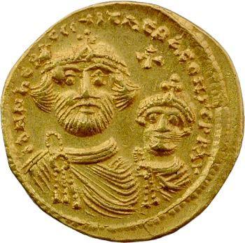 Héraclius et Héraclius Constantin, solidus, Constantinople, 610-641