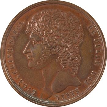 Italie, Joachim Murat, droit de l'inauguration de la place Murat à Naples, 1809
