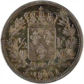 Charles X, 1/2 franc, 1829 Paris