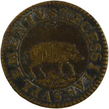 Orléans, canal de Briare, méreau pour la viande, 1606