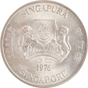 Singapour, 10 dollars, 10e anniversaire de l'Indépendance, 1976
