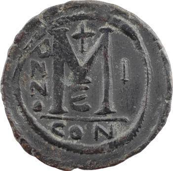 Justin II et Sophie, follis, Constantinople, 5e officine, An I = 565-566