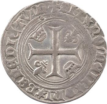 Louis XI, blanc à la couronne (REX* ; molettes à 6 pointes), 2e émission, Châlons-en-Champagne