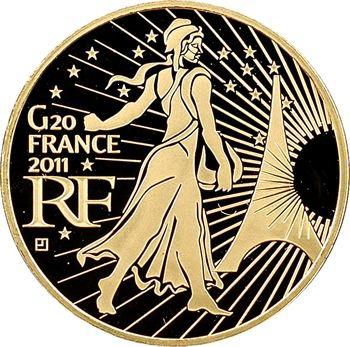 Ve République, 200 euros Or, sommet du G20, 2011 Paris