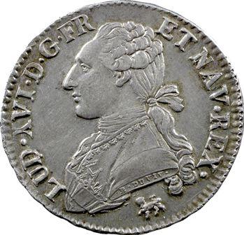 Louis XVI, demi-écu aux rameaux d'olivier, 1791, 2d semestre, Paris