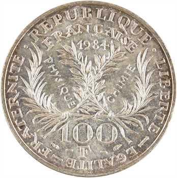 Ve République, essai de 100 francs Marie Curie, 1984 Pessac