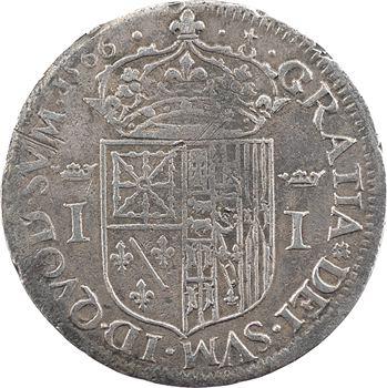 Béarn (seigneurie de), Jeanne d'Albret, teston, 1566 Pau