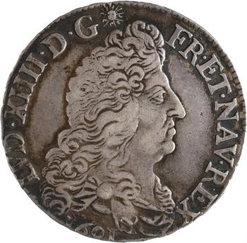 Louis XIV, demi-écu aux huit L, 1er type, 1691 La Rochelle